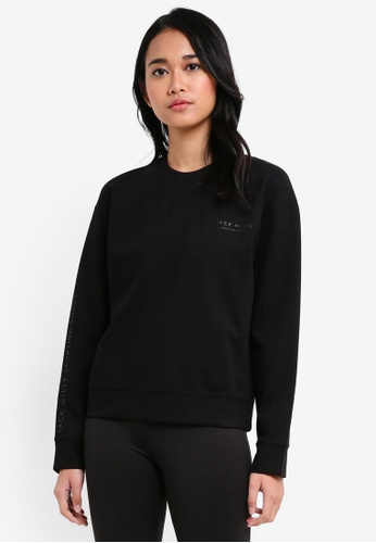 Jack Wills black Bedlow Clean Sweatshirt 82AF0AA5EB1E33GS_1