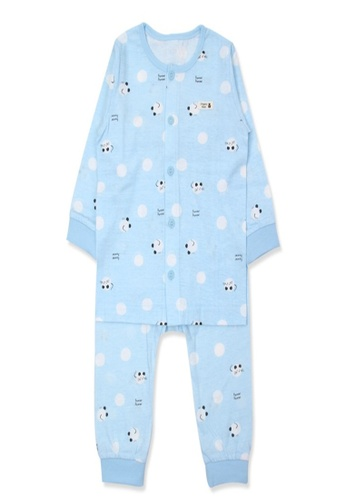 Organic mom blue Organic Cotton Willie Mouse Lightweight Long Sleeves Pjs 7461CKA29333A0GS_1