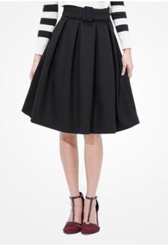 Pleated Whims Midi Skirt