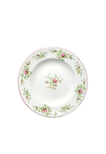 """Claytan Moss Rose With Banding - 8.1"""" Salad Plate 7B5F6HL3A2F75CGS_1"""