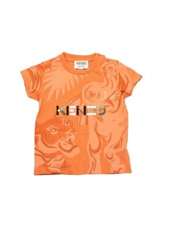 KENZO KIDS orange KENZO BABY BOYS T-SHIRT 8B944KA9AF9E12GS_1