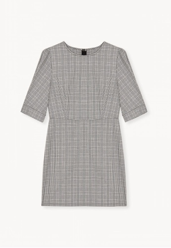 0a1bd63d7a5 Shop Pomelo Mini Puffed Sleeve Glen Plaid Dress Online on ZALORA Philippines