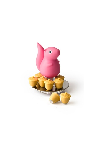 Qualy Qualy Squirrel & Acorn Magnet Set (Pink) 866DDHL41B968CGS_1