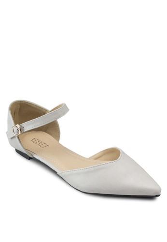 Jeesprit 價位an 基本款繞踝平底鞋, 女鞋, 鞋