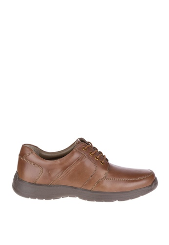 Hush Puppies brown Leader Henson Casual Shoes HU326SH0KMQUPH_1
