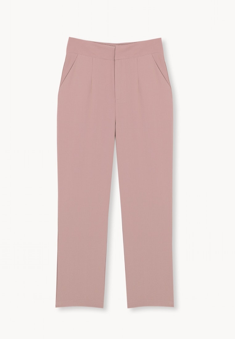 Cropped Pomelo Mid Pink Calf Pants 00EHSq