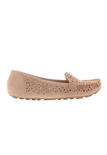 Beira Rio beige Cut Out Design Perforated Flats BE995SH69ZJAHK_1