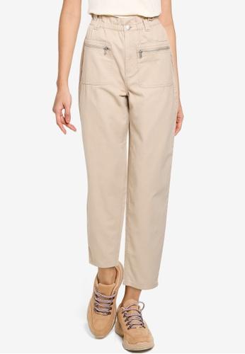 JACQUELINE DE YONG beige Sophie Paperbag Pants ACBBCAA74B22A2GS_1