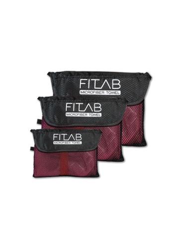 Fitlab red Microfiber Towel Bundle B729DHL36AEF56GS_1
