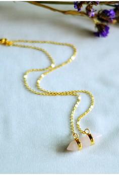 Ayra Double Point Rose Quartz Necklace