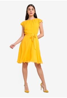 cdba2dfecd Dorothy Perkins Ochre Angel Sleeve Dress RM 209.00. Sizes 8 10 12 14 16