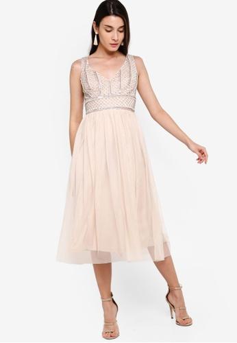 get cheap detailed pictures fashion Mulan Midi Dress