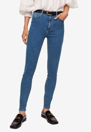 Mango 藍色 Skinny Noa Jeans 5E234AABFC6203GS_1