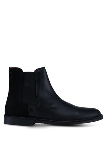 Selected Homme black Royce Chelsea Mix Boots 5817CSH0C418D4GS_1
