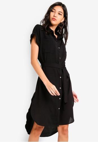 ZALORA black Fit and Flare Shirt Dress A033CAA7516403GS_1