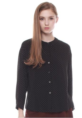 JOVET black Dotty Shirt A6FB1AA74EB56FGS_1