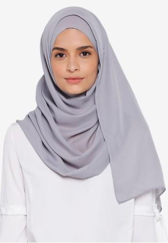 Lubna grey Basic Shawl BECCCAA62A6CA0GS_1