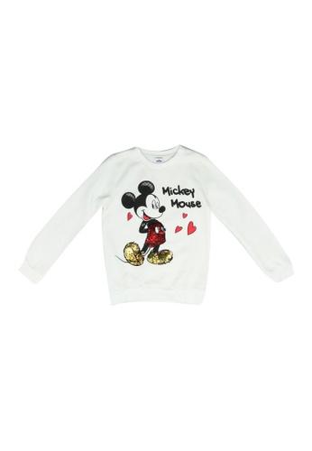 FOX Kids & Baby white Sequin Sweater 85232KA36B4C05GS_1