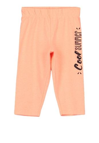 LC Waikiki orange Girl's Leggings 7CD89KA2D864CBGS_1
