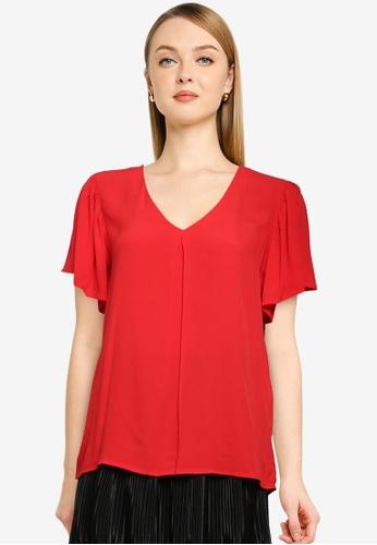 JACQUELINE DE YONG red Lea Short Sleeve Top 352C5AAA3B67DDGS_1