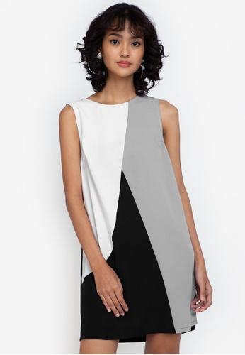 ZALORA BASICS multi Colourblock Mini Dress ACD72AA714BC8CGS_1