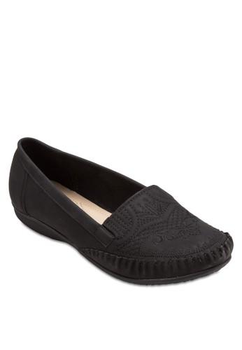Moccasin 刺繡鞋面平底鞋, 女鞋,adl esprit 鞋