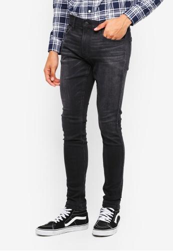 Hollister 黑色 刷破緊身牛仔褲 BC2A8AA97B7CD4GS_1