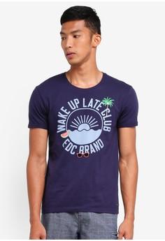 【ZALORA】 Printed Short Sleeve T-Shirt