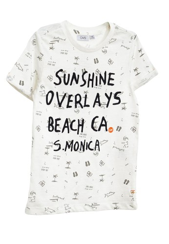 OVS white Print T-Shirt 626C5KADF50414GS_1