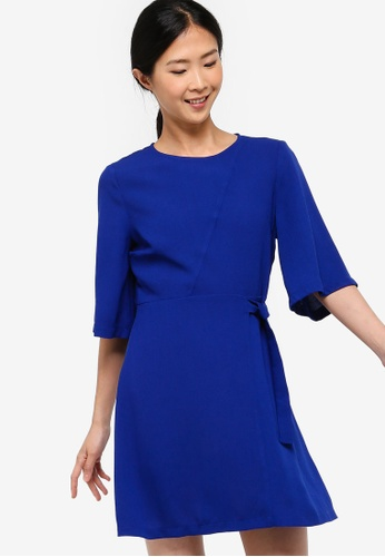 ZALORA BASICS blue Basic Fit And Flare With D-Ring 37A9FAA269F8A8GS_1
