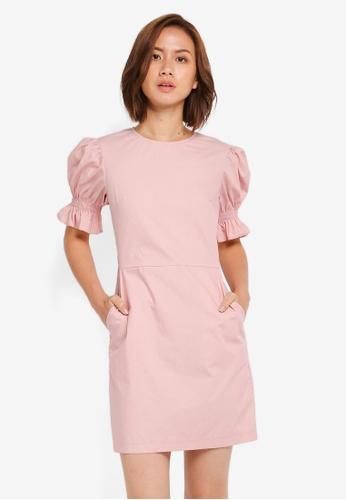 ZALORA pink Scooped Neck Dress 9303DAA90B7914GS_1
