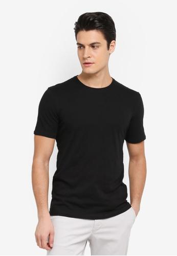 Sisley 黑色 竹節棉基本款短袖T恤 C5BCAAA6912B6AGS_1