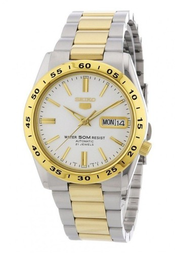 Seiko gold and silver Seiko 5 Automatics 21 Jewels SNKE04K1 Stainless Steel Silver Gold 1ADCDAC1D4DE80GS_1