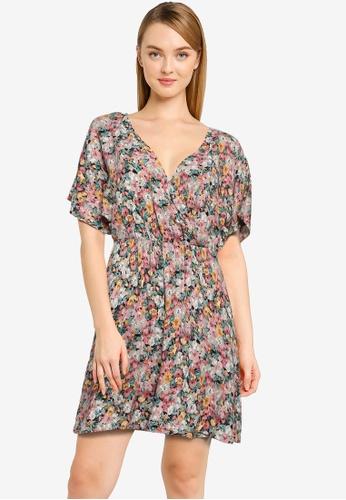 JACQUELINE DE YONG black Una 2/4 Mini Wrap Dress 4A97BAA06210C7GS_1