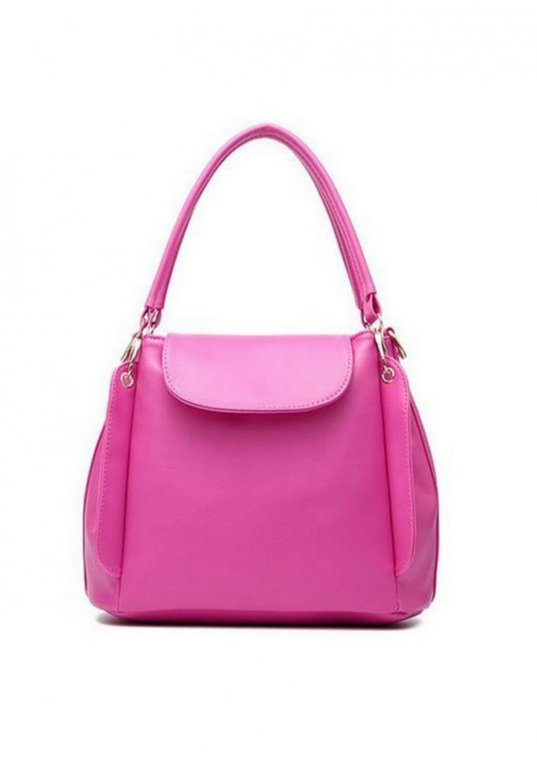 KL16040 Three Pouch Leather Handbag Shoulder Bag