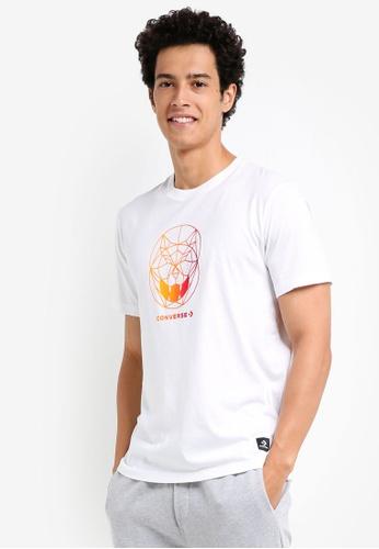 Converse 白色 休閒印花T恤 A273BAA7A5CEA8GS_1