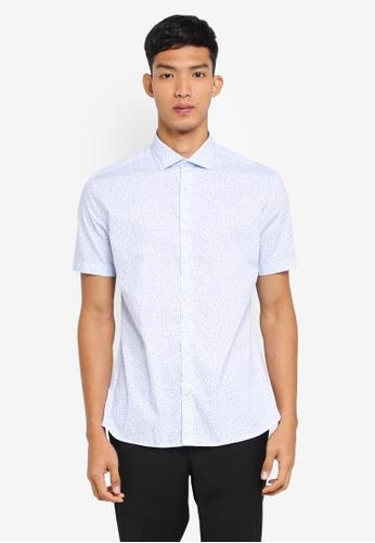 G2000 white Floral Print Short Sleeve Shirt 0277DAA3555A6AGS_1