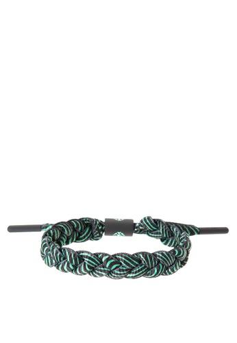 Rastaclat grey Rastaclat Shoelace Bracelet: Sombra RA072AC0ISBPPH_1