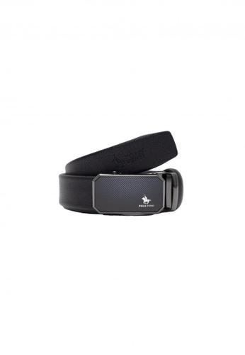 POLOVENZI black POLOVENZI Mix Leather Men Belt FA9A6ACF3D9A51GS_1