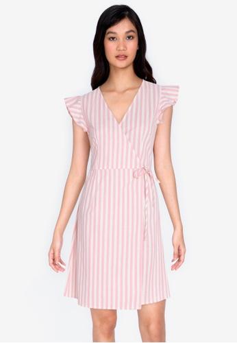 ZALORA BASICS multi Frill Sleeve Wrap Dress 36AA7AA73CDFEEGS_1