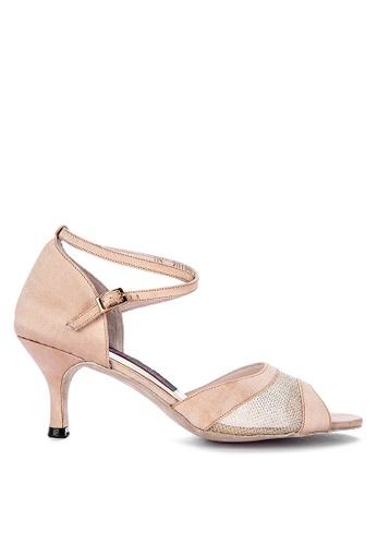 CARMELLETES beige Fabric and Mesh Dancing Shoes 8E308SH3A43850GS_1