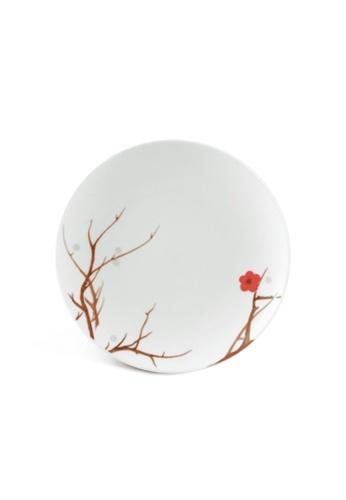 Minh Long I white Pink Ochna: Porcelain Rice Bowl Saucer (15.5cm) 8D138HL9310243GS_1