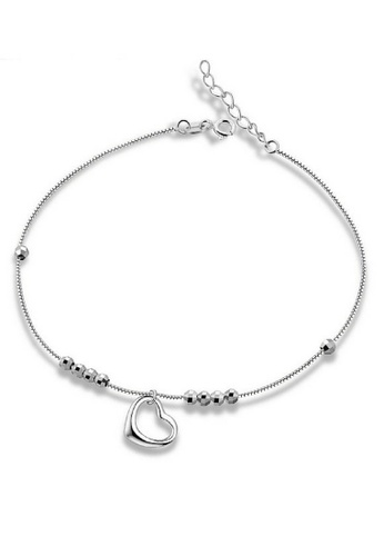 Vivere Rosse silver First Love 925 Sterling Silver Anklet VI014AC46EBHMY_1