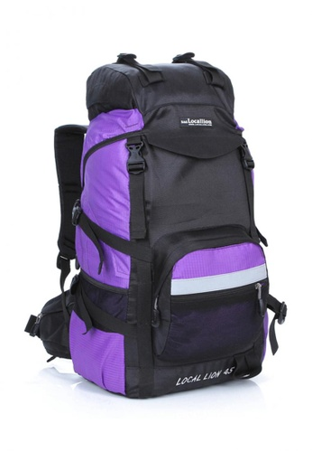Local Lion purple Local Lion Steel Support Water Resistant Hiking Backpack STEEL 45L (Purple) LO780SE26SGFMY_1