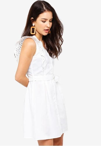 ZALORA white Flare Sleeves Fit And Flare Dress 84817AA7D0A3FBGS_1