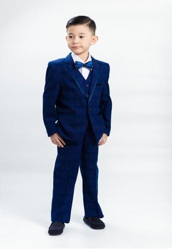 LASSIE & LADDIE blue Balty Complete 5 Piece Tux Suit E8252KA43B9F64GS_1