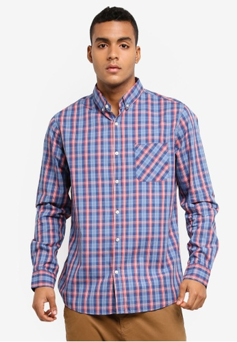 Cotton On orange and blue and multi Brunswick Shirt 0CE0BAA0052831GS_1