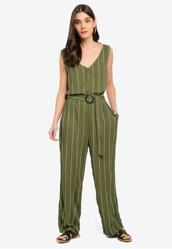 86c86fa3b0 Cotton On green and multi Woven Bobbie Strappy Wide Leg Jumpsuit  F925BAAED10A51GS 1