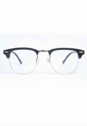 Kyfer's Eyewear & Essentials black Vintage Half Rim Clubmaster KY376AC65RPISG_1