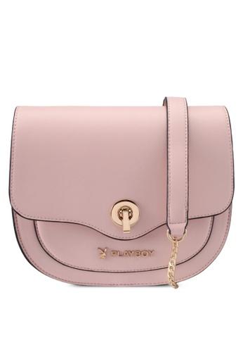 PLAYBOY BUNNY pink Playboy Bunny Saddle Bag PL604AC0SMLJMY_1